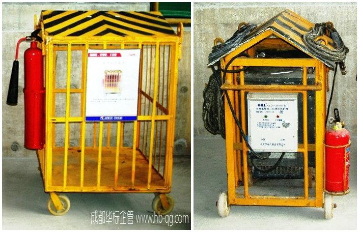 现场施工可移动式电焊机安全护笼推车